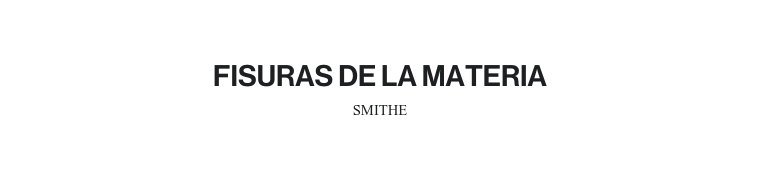 FISURAS DE LA MATERIA